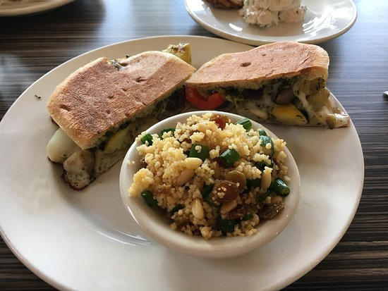 Comfort, Teksas: Monday's special: roasted veggie melt with couscous
