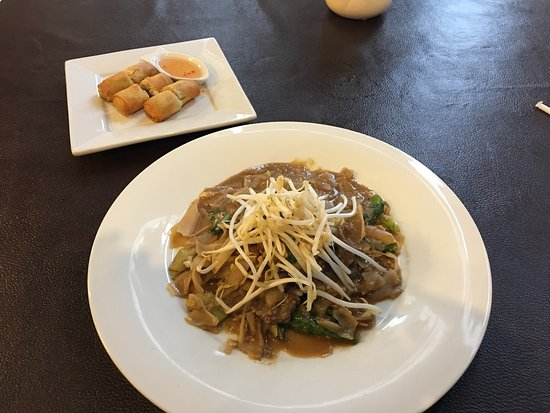 New Albany, IN: Spring Rolls and Beef Pad See Ew.