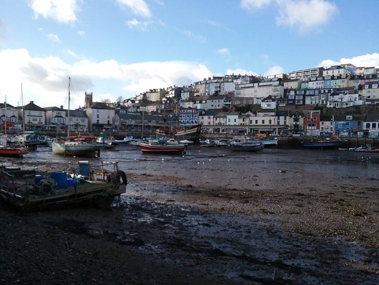 Brixham, UK : where has the water gone