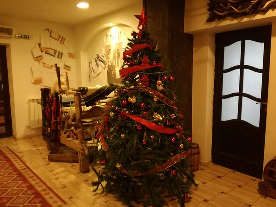 Suceava County, Rumänien: Christmas tree near the loom