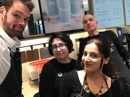 Oakville, Kanada: Some of the baristas