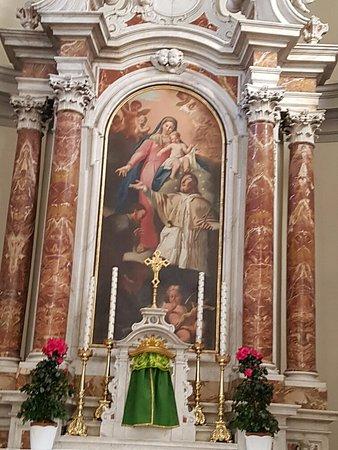 Forni di Sopra, Italy: Altar Maggiore - La pala con San Giacomo