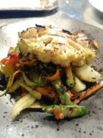 Newent, UK: Vegetarian main course