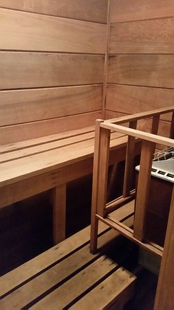 Highridge Condominiums: Sauna in master bathroom, unit A14