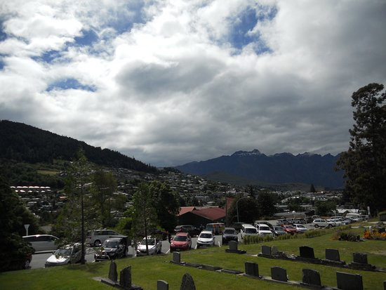 Queenstown Cemetery: View towards town