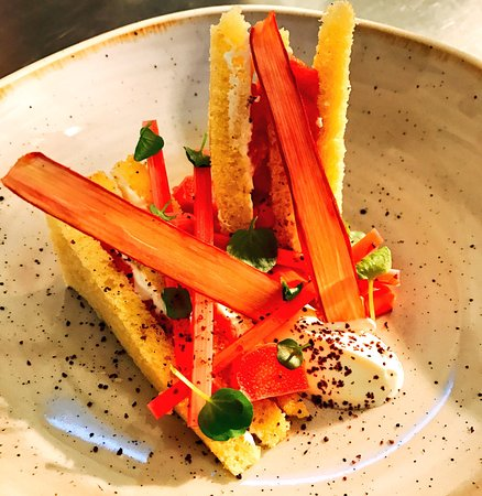 Macclesfield, UK: Our newest rhubarb and rapeseed cake creation.