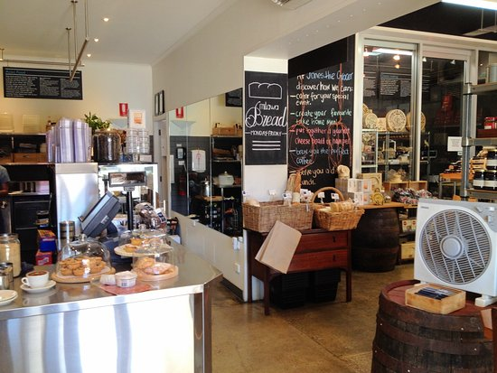 Albury, Australia: Inside Jones the Grocer - coffee to the left, cheese and deli to the right