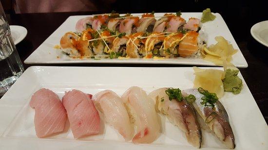 Mountain View, CA: top-botton (haba saba roll, eel salmon roll) red snapper-hamachi-mackarel nigiris :)