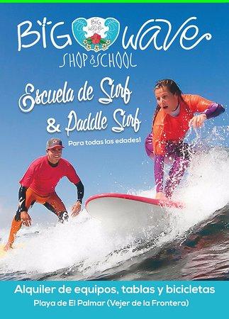 El Palmar, Ισπανία: Escuela de Surf, Surfcamp (campamento), Surfshop