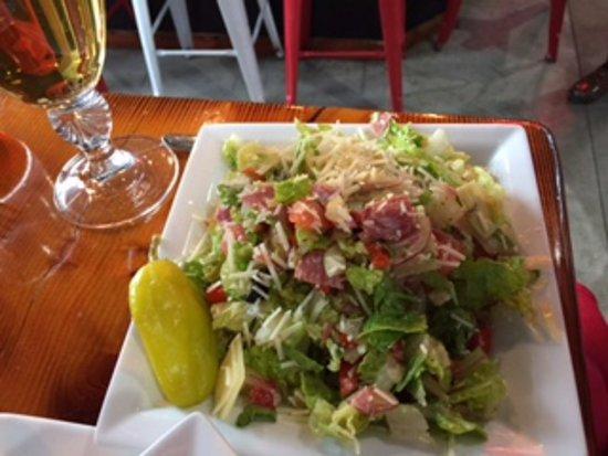 Wenatchee, WA: Chopped antipasti salad, small....with romaine