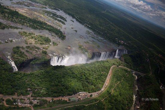 Victoria Falls, Zambia: Cataratas Victoria vista desde arriba