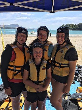Whitianga, Nova Zelândia: Safety gear on!