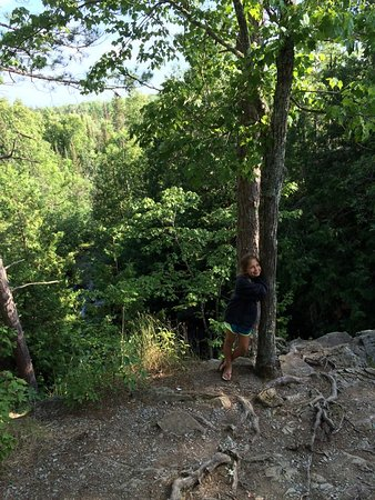 Pembine, WI : July over the cliff