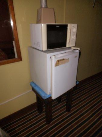 Harrison, AR: Really old microwave and fridge