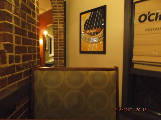 Conyers, GA: O'Charley's sign in the dining area....