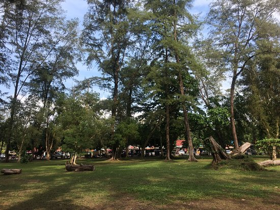 Noppharathara Beach: Green & Shady park to cool down