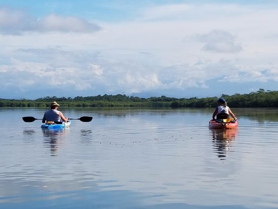 Boca Chica, Panama : Kayaking on estuary