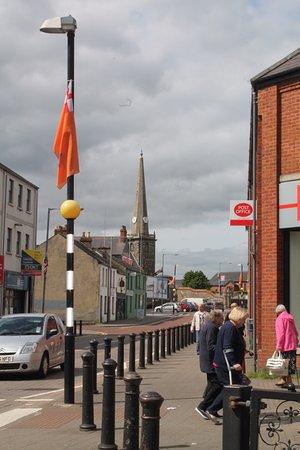 Carrickfergus, UK: St. Nicholas' spire.