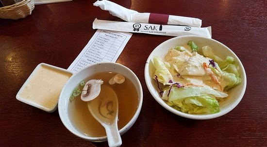 Griffin, Georgien: Soup and salad (Salad was especially yummy)