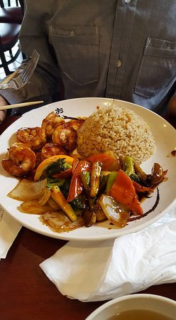 Griffin, Georgien: Shrimp, fried rice, veggies