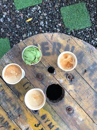 Manggis, Indonesia: Best coffee we have had in Bali. Beautiful green tea ice cream too.