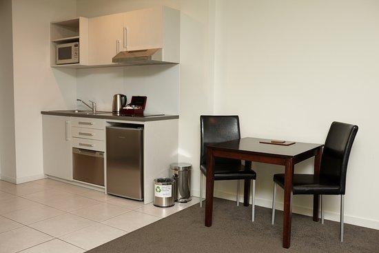 Studio Apartment Kitchen & Dining - Picture of Quest Rotorua ...
