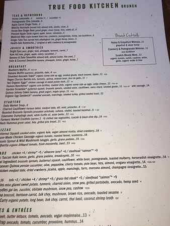 Walnut Creek, CA: Detailed menu of food