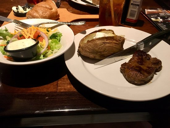 Snellville, GA: 6 oz. Renegade Sirloin and baked potato in January
