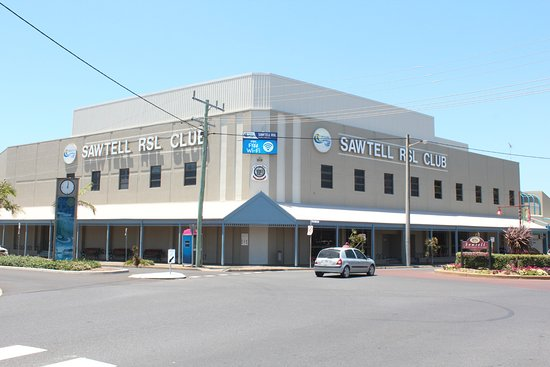 Sawtell, Australie : The club with its corner location