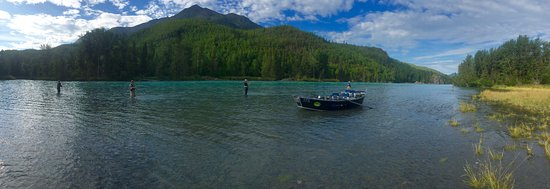 Cooper Landing, AK: Stand in a river and catch a fish!