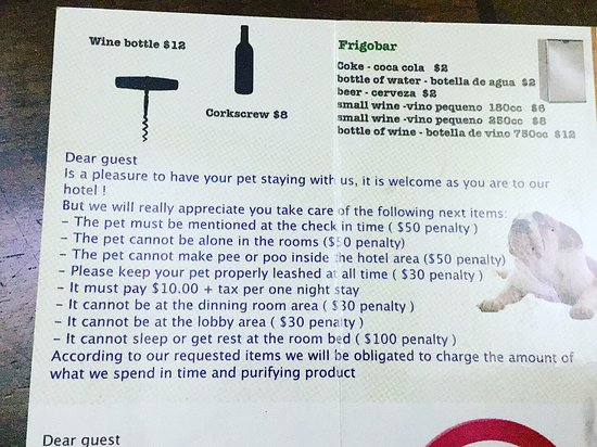 Hotel Luisiana: Unfriendly dog rules at what is supposed to be a dog friendly hotel Rude unfriendly staff