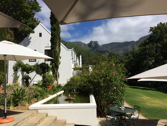 The Cellars-Hohenort: View from outdoor breakfast area
