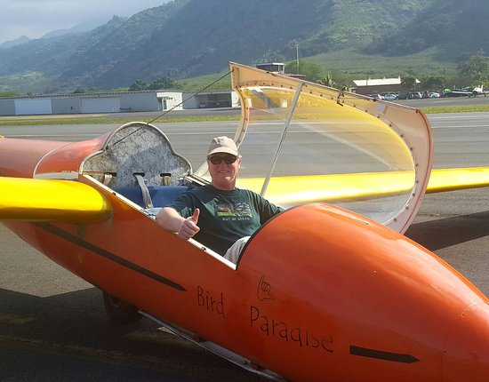 Waialua, Χαβάη: Me after second flight flying sailplane.
