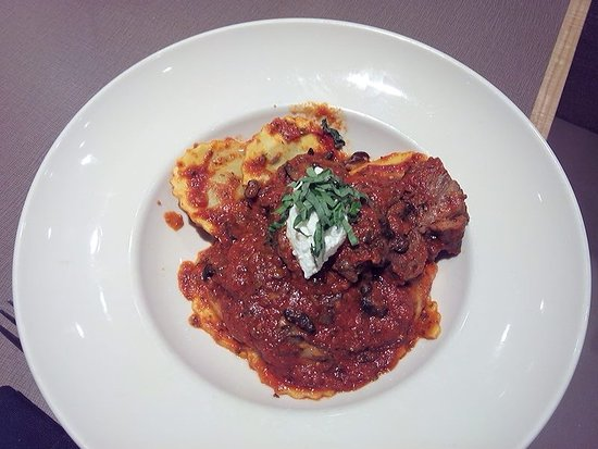 Wauwatosa, WI: Mushroom Ravioli with Short Ribs
