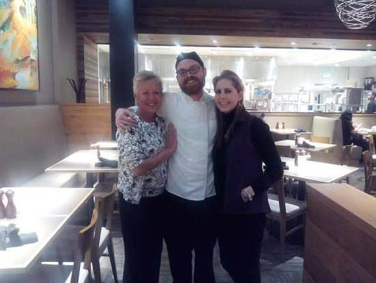 Wauwatosa, WI: Me and my cousin with my son Justin, one the chefs at Ruscello
