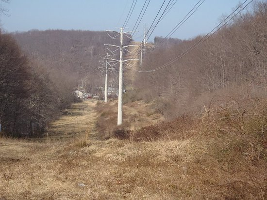 Fort Lee, NJ: Power line view on the Long Path, Cheesecote Mountain Park