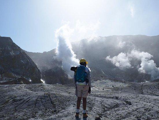 Whakatane, New Zealand: The inner crater of the marine active volcano