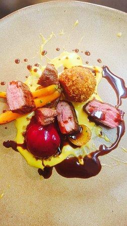 Corbridge, UK: Beef dish .