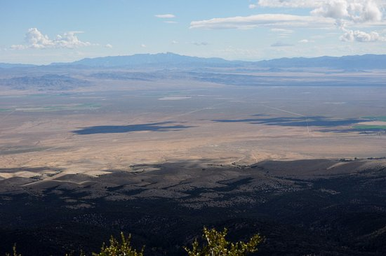Great Basin National Park, NV: A view out over the valley below, Notch peak I mentioned is over there