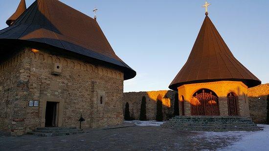On the inside of the Hadambu Monastary