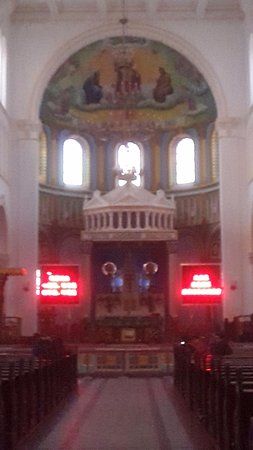Qingdao Catholic Church: View of the altar area (not alter as in the display information).