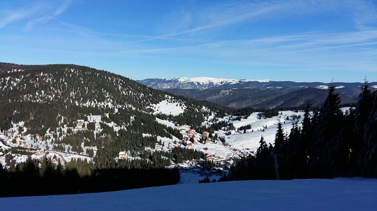 Arieseni, Romania: View from the ski slope
