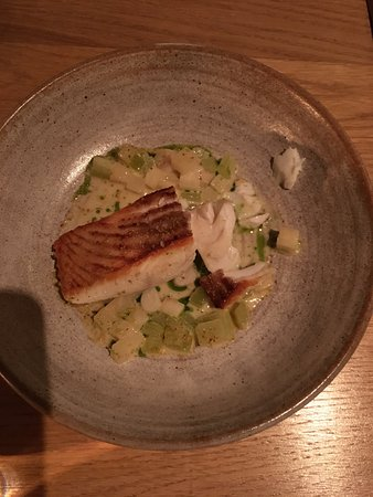 Oldstead, UK: The Halibut (sorry, started eating before I realised I needed to take a picture)