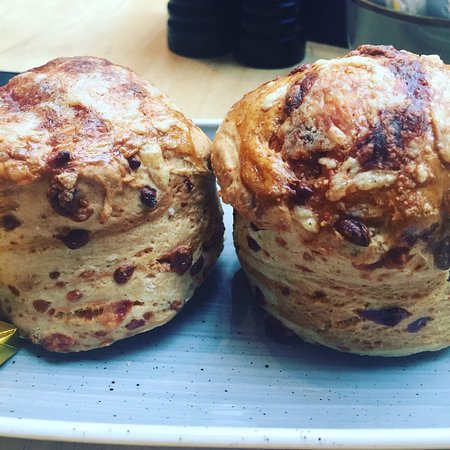Seaham, UK: Cheese scones