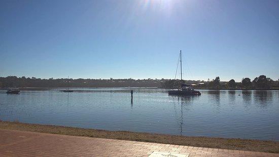Merimbula, Australia: looking over to the fish pen