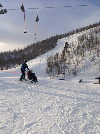 Geilo, Noruega: Harry on the bi-ski