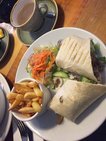 West Kirby, UK: Scouse & duck wrap with hoisin sauce