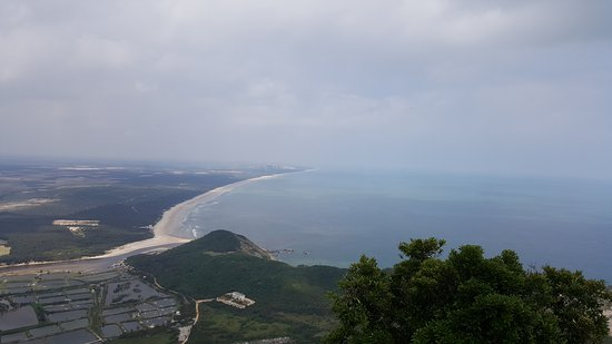 Wenchang, China: From of the land and sea from the top of the ridge