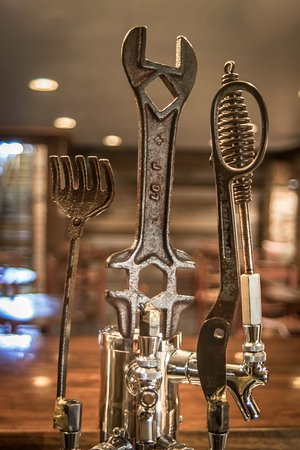Pickens, SC: Custom Tap Handles made from local antique pieces by Chris Durham