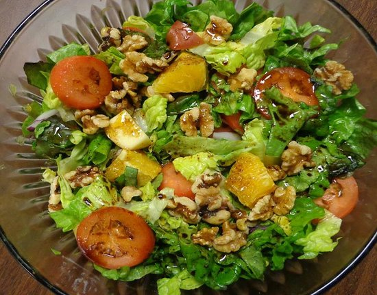 Kinston, NC: Citrus Salad, one of our salad options for the cooking class.